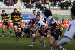 Pro D2 rugby match RCNM vs SC Albi Royalty Free Stock Images