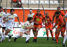 Pro D2 rugby match RCNM vs Stade Montois Stock Photography