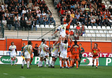 Pro D2 rugby match RCNM vs Stade Montois Royalty Free Stock Image
