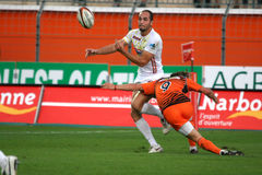 Pro D2 rugby match RCNM vs Stade Montois Royalty Free Stock Images