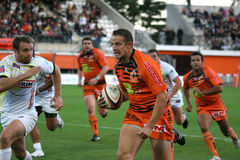 Pro D2 rugby match RCNM vs Stade Montois Stock Photos