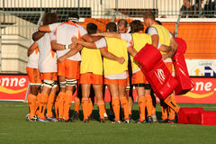 Pro D2 rugby match RCNM vs Stade Montois Stock Image
