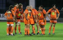 Pro D2 rugbygelijke RCNM versus Stade Montois Stock Foto