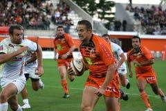 Pro D2 rugbygelijke RCNM versus Stade Montois Stock Foto's