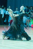 Pro-Am Dance Couple Performs Pro-Am Super Cup International European Standard Program Royalty Free Stock Images