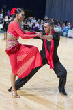 Pro-Am Dance Couple Performs Pro-Am Super Cup International Latin Program on WDSF Minsk Open Dance Festival-2017 Royalty Free Stock Images