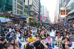 Pro-democracy protest in Hong Kong 2014 Stock Photos
