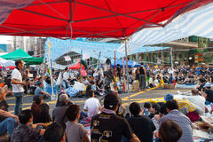 Pro-democracy protest in Hong Kong 2014 Royalty Free Stock Photo