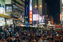 Pro-democracy protest in Hong Kong 2014 Royalty Free Stock Image