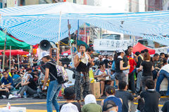 Pro-democracy protest in Hong Kong 2014 Royalty Free Stock Images