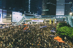 Pro-democracy protest in Hong Kong 2014 Royalty Free Stock Photography