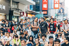 Pro-democracy protest in Hong Kong 2014 Stock Photography