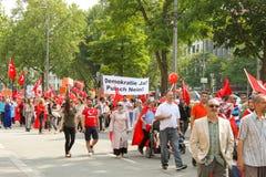 Pro demonstração de Erdogan em Munich, Alemanha Foto de Stock