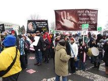 Pro dimostranti di vita Fotografie Stock Libere da Diritti