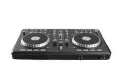 Pro dj controller isolated on white background Stock Image
