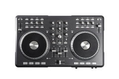 Pro dj controller isolated on white background Royalty Free Stock Image