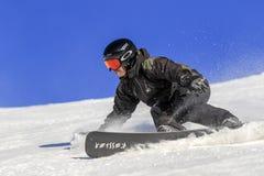 Pro do Snowboarder, homem extremo nivelado de ryder Imagens de Stock Royalty Free