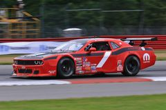 Pro Dodge Challenger race car on the course Royalty Free Stock Photos