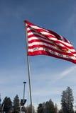 Pro drapeau américain au rassemblement. Image libre de droits