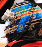 Pro driver di corsa Fotografie Stock