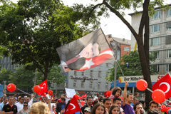 Pro Erdogan demonstration in Munich, Germany Royalty Free Stock Photography