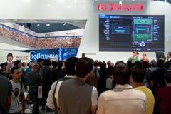 Pro Evolution Soccer a GamesCom fotografia stock