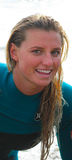 Pro Female Surfer,Lakey Peterson Leadbetter Classic Stock Photography
