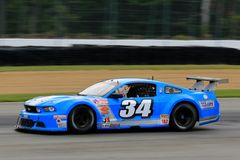 Pro Ford Mustang race car on the course Royalty Free Stock Photos