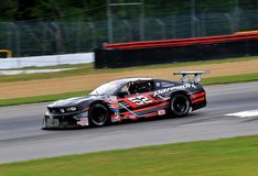 Pro Ford Mustang race car on the course Stock Photos