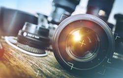 Pro-fotografiutrustning royaltyfri fotografi