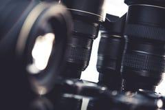 Pro-fotolinsuppsättning arkivbild