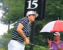 Pro giocatore di golf Keegan Bradley fotografia stock
