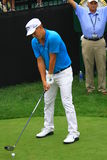 Pro golfer Fredrik Jacobson. Swedish Pro golfer Fredrik Jacobson prepares to hit the ball at the country clubs PGA golf event Royalty Free Stock Images