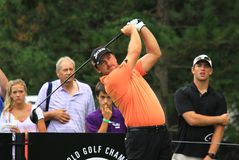Pro golfer Graeme McDowell. European golfer Graeme McDowell of Ireland plays the PGA event Stock Photos
