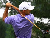 Pro golfer Jonathan Byrd Stock Image