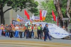 Pro-government rally in hong kong Royalty Free Stock Photos