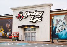 Pro Hockey Life Store. Dartmouth, Canada - July 19, 2018: Pro Hockey life storefront. Pro Hockey Life is owned by Canadian sporting goods retailer, FGL Sports royalty free stock image