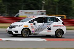 Pro гоночная машина Honda подходящая на курсе Стоковые Фото