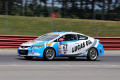 Pro Honda Civic Si race car on the track Royalty Free Stock Images