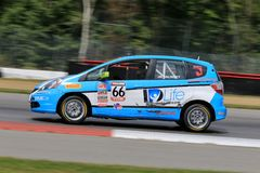 Pro Honda Fit race car on the course Stock Photography