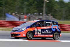 Pro Honda Fit race car on the course Royalty Free Stock Images