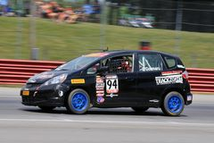 Pro Honda Fit race car on the track Stock Image