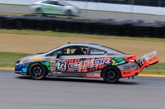Pro HPD Honda Civic Si race car on the course Stock Photos