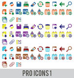 Pro icons Royalty Free Stock Photos