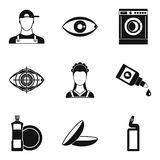 Pro icons set, simple style. Pro icons set. Simple set of 9 pro vector icons for web isolated on white background Stock Image