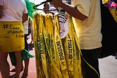 Pro impeachmentów faborki Brazylia Obraz Royalty Free