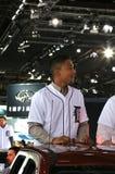 Pro jogador de beisebol Dixon Machado fotos de stock royalty free