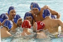 Pro jogadores do waterpolo da equipe de Recco imagem de stock