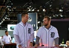 Pro joueurs de baseball Buck Farmer et Ian Krol Photographie stock