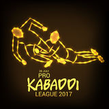 Pro Kabaddi League. Illustration of a Banner for Pro Kabaddi League Stock Photography